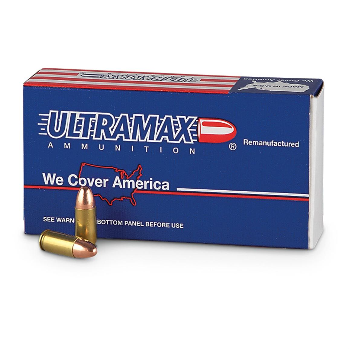 Ultramax Remanufactured, 9mm Luger, FMJ, 115 Grain, 250 Rounds