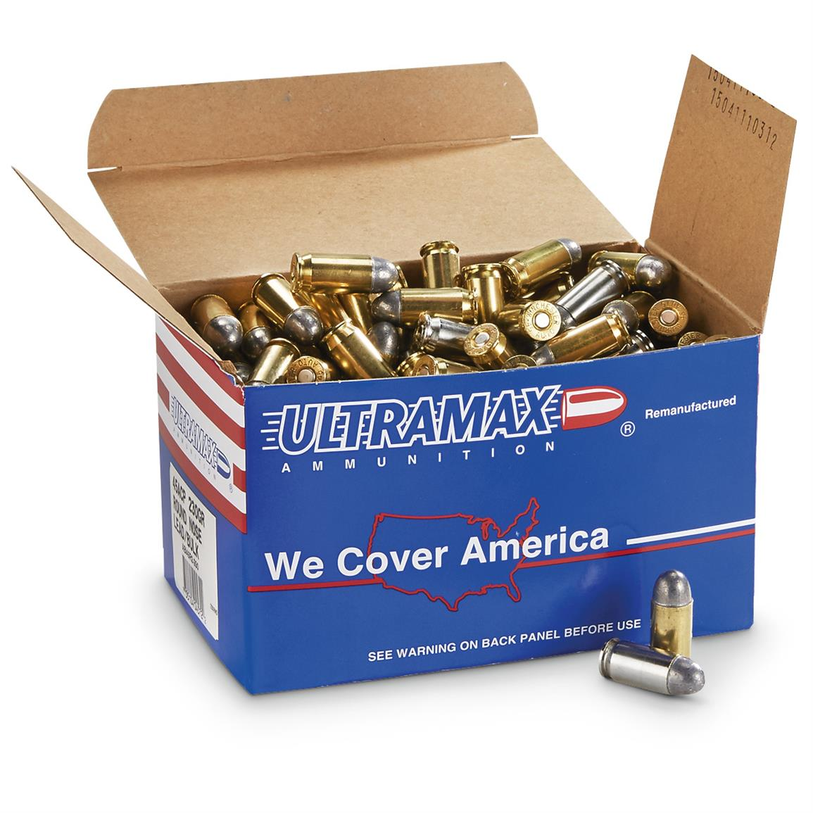 ultramax remanufactured 45 acp swc 200 grain 500 rounds