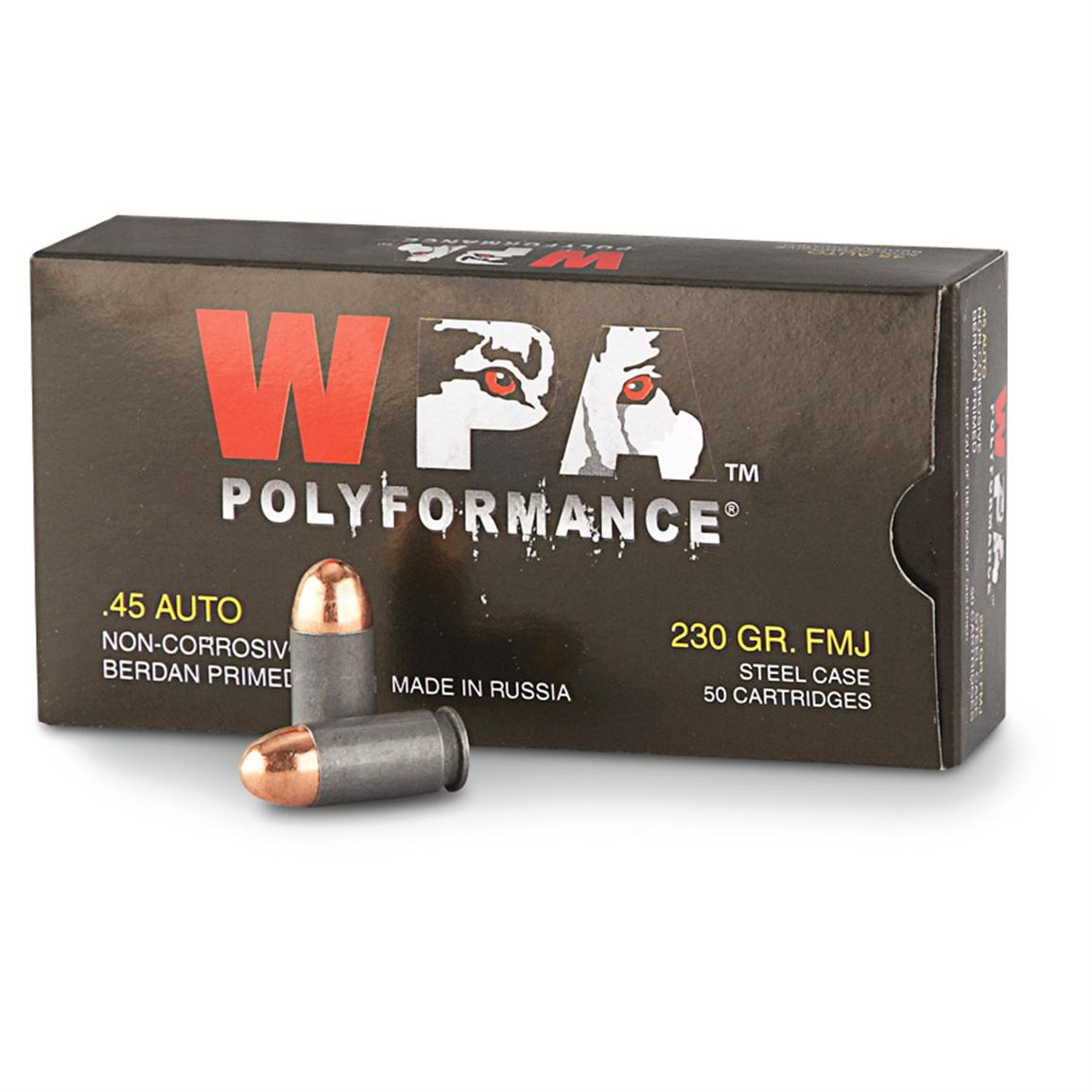 Wolf, .45 ACP, FMJ, 230 Grain, 250 Rounds