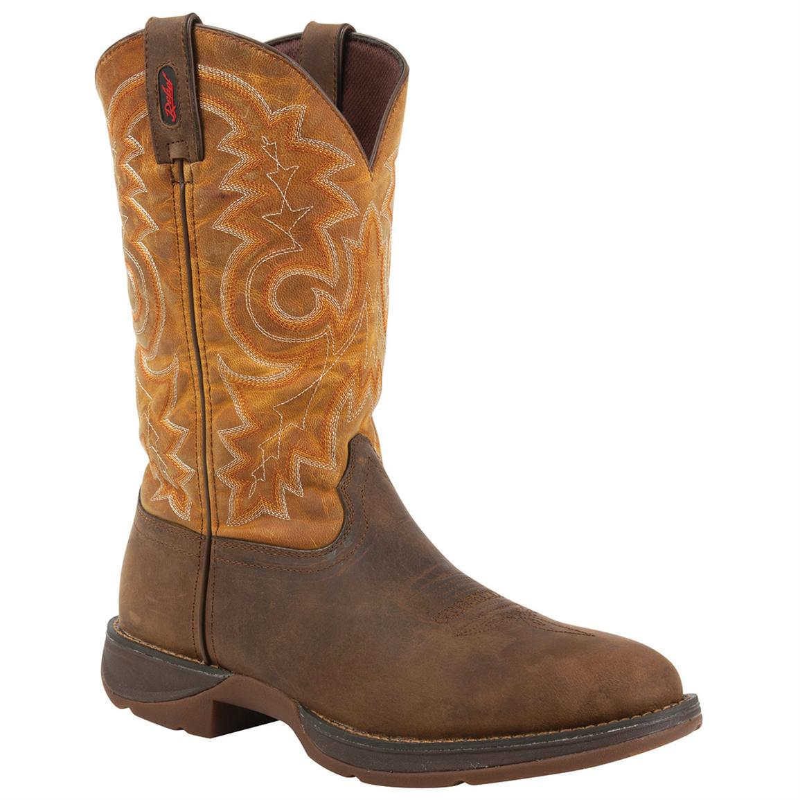 Rebel by Durango® Pull-On Western Boots, Tan / Goldenrod