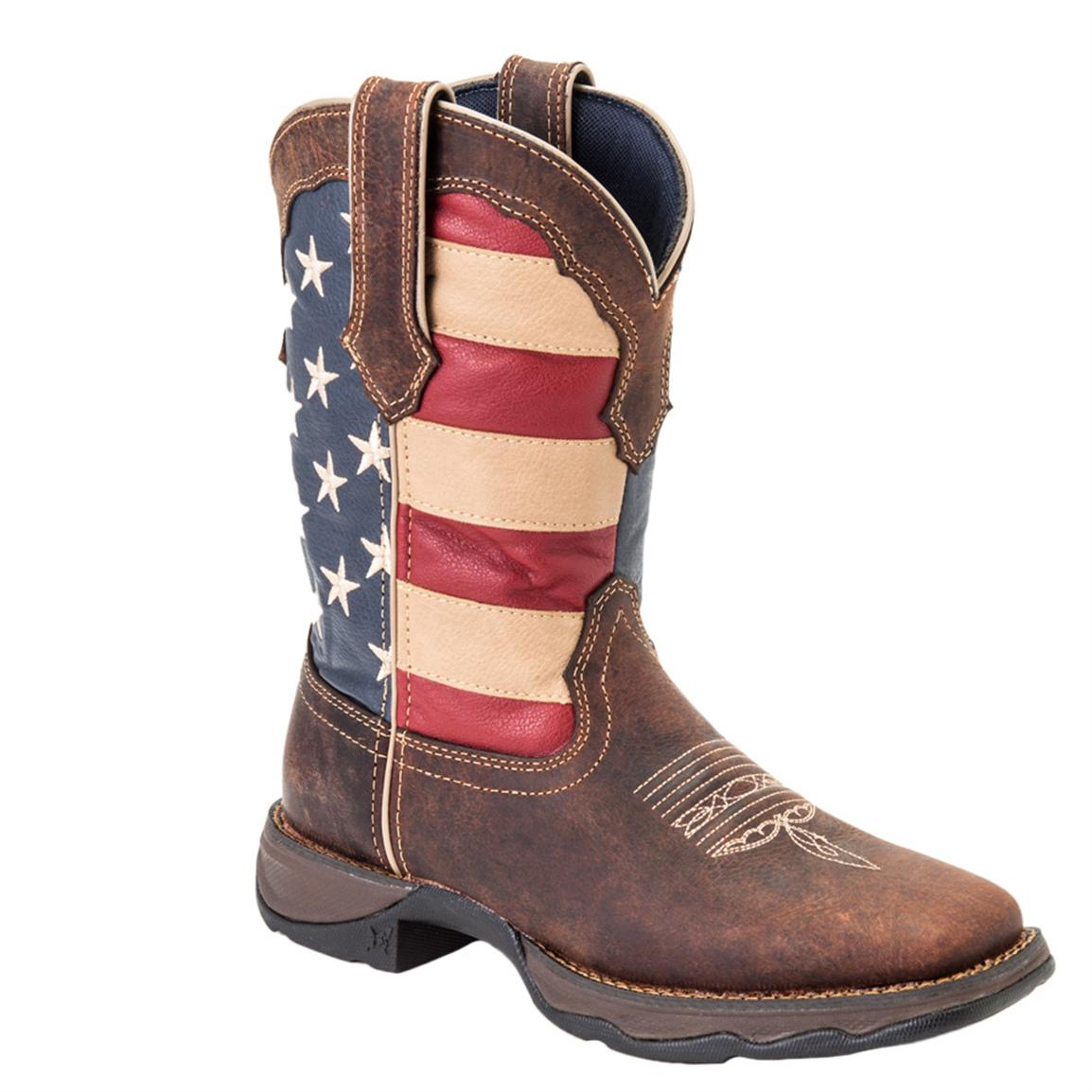 Lady Rebel by Durango® 10 inch Patriotic Pull-On Western Boot, Union Flag