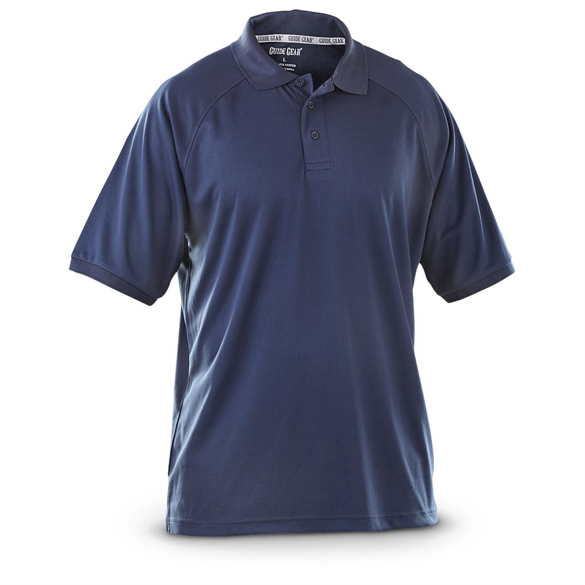 Guide Gear Men's Performance Short Sleeve Polo Shirt, Navy