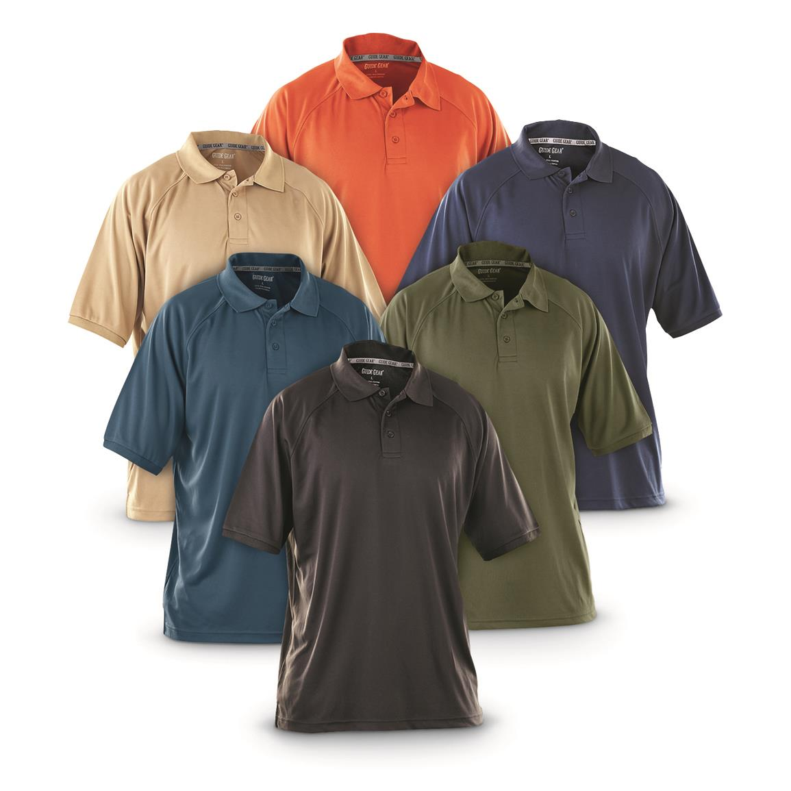 Guide Gear Men's Performance Short Sleeve Polo Shirt