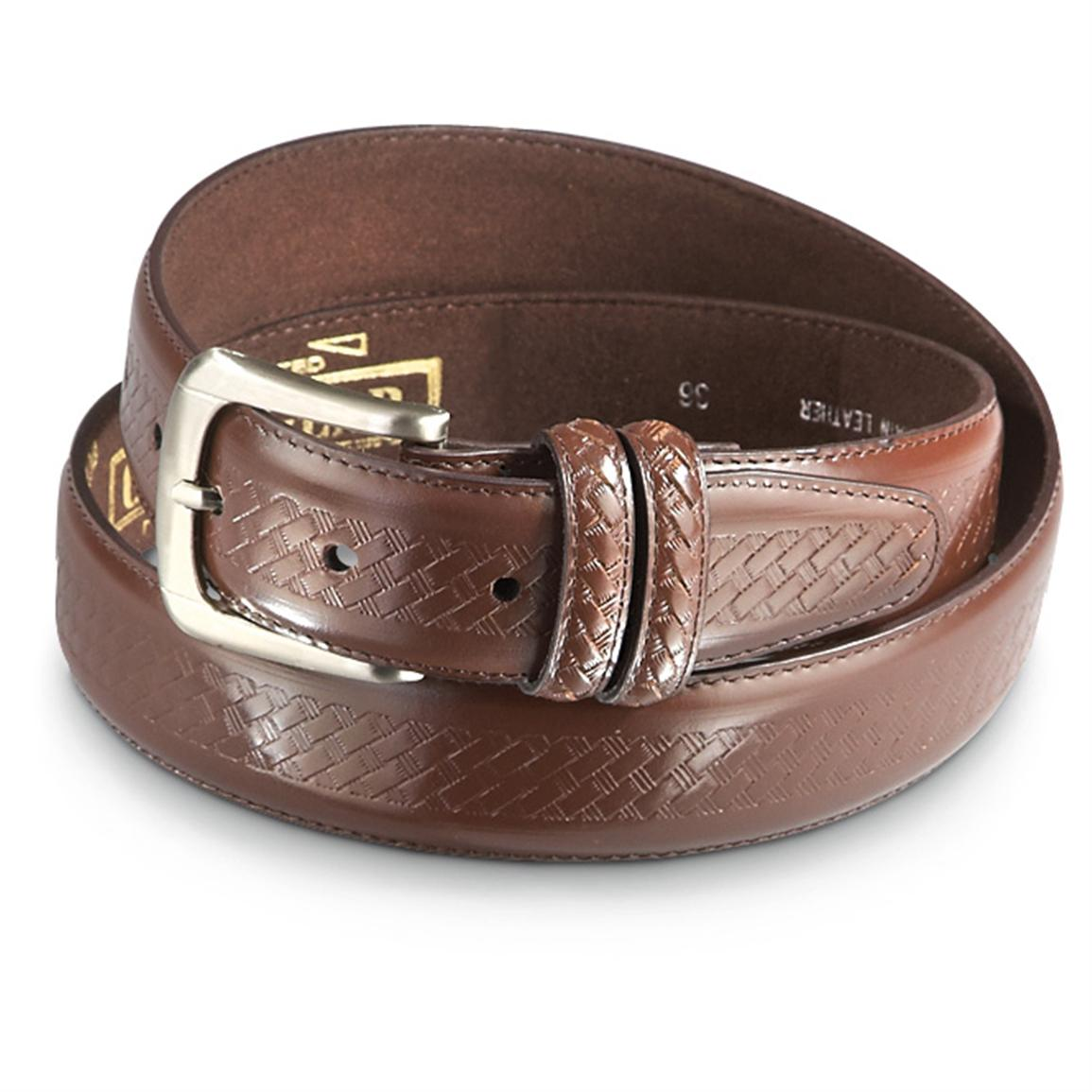 "Guide Gear Embossed Basketweave 1.5"" Belt, Brown"