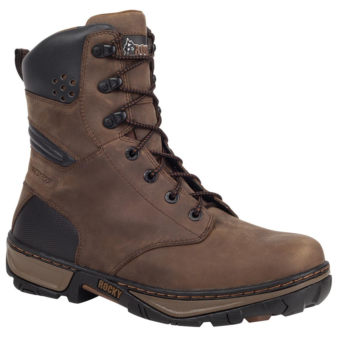 Rocky® Forge Waterproof Work Boots, Darkwood