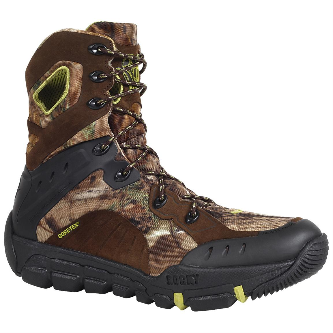 Rocky® 8 inch L2 Waterproof Boots, Realtree® AP™ Xtra Green