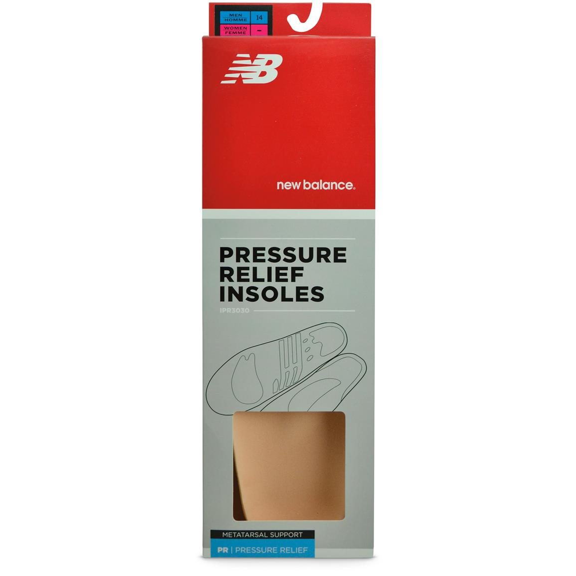 New Balance® IPR3030 Pressure Relief Insoles with Metatarsal Pad