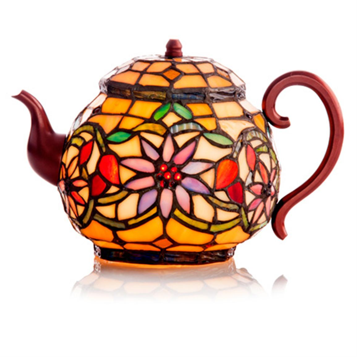 River of Goods Tiffany Teapot Accent Lamp