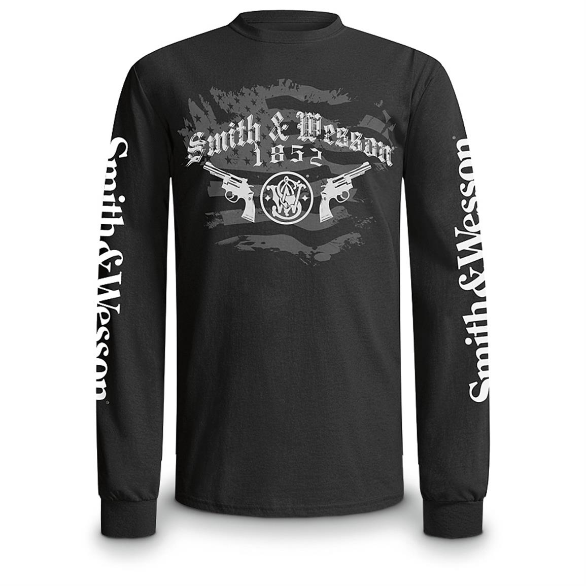 Smith & Wesson Long-sleeved T-shirt, Black