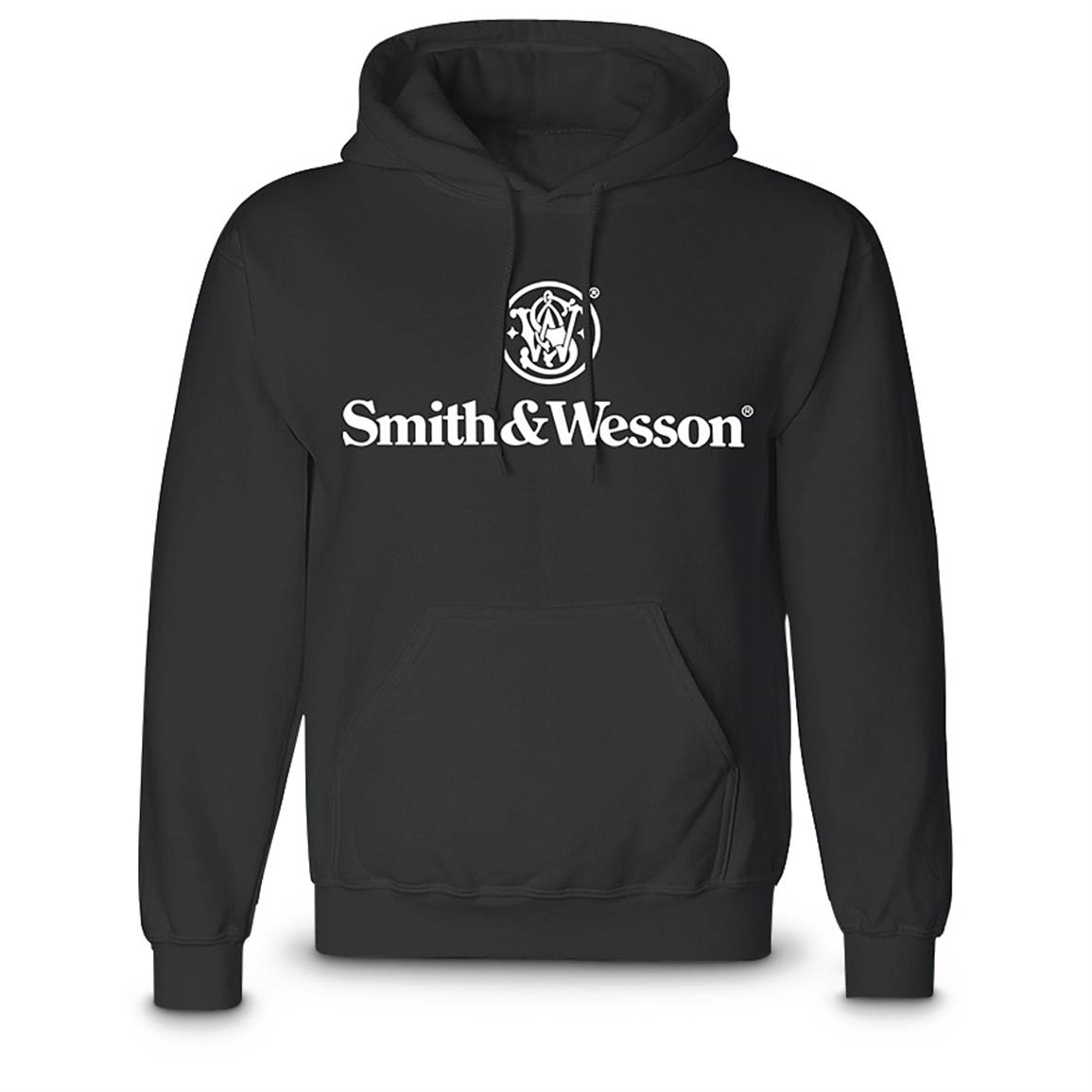 Smith & Wesson Pullover Hooded Sweatshirt, Black
