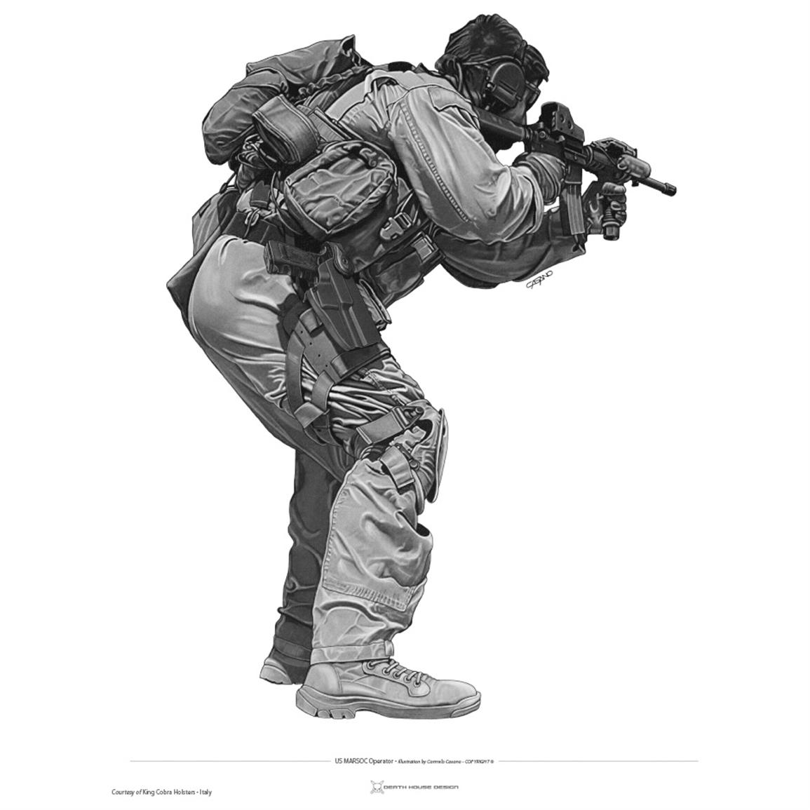 U.S. Navy SEALs & Spec-Ops #4 14x20 inch Print by Death House Design