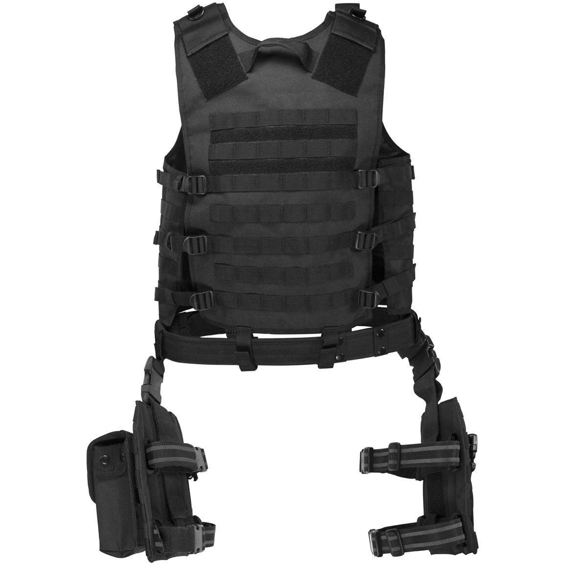 Barska® Loaded Gear™ VX-100 Tactical Vest and Leg Platform, Back View