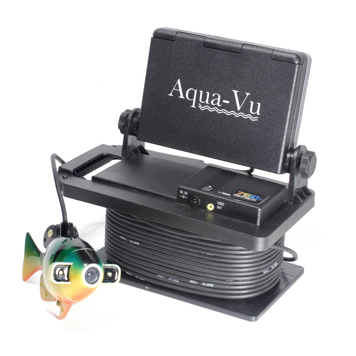Aqua vu 760c hd color underwater viewing system 580122 for Ice fishing electronics