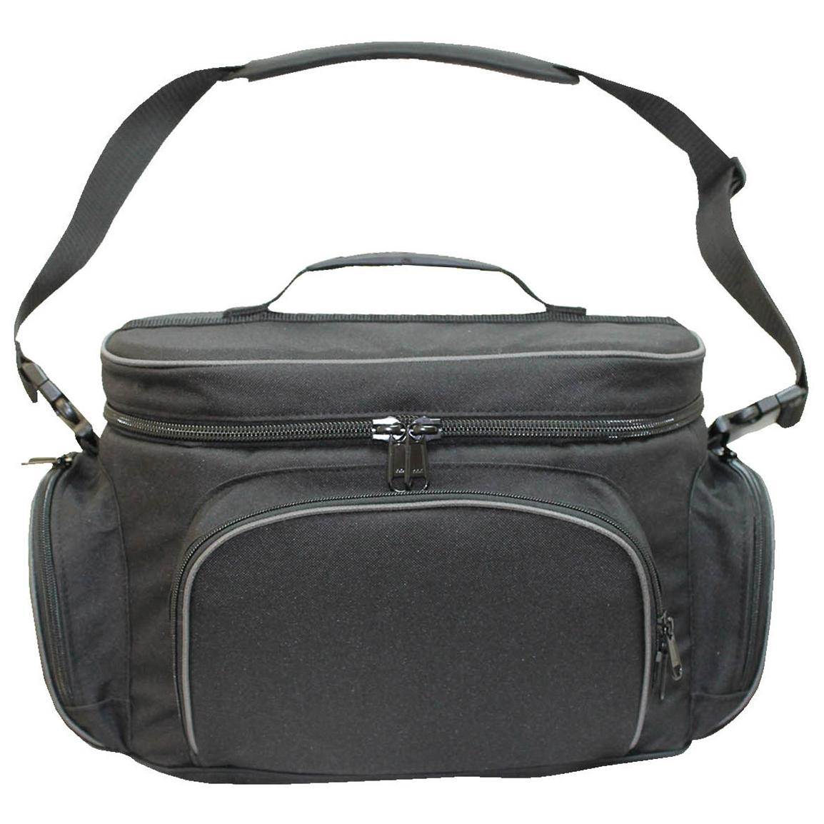 Zipper-close pockets and main compartment