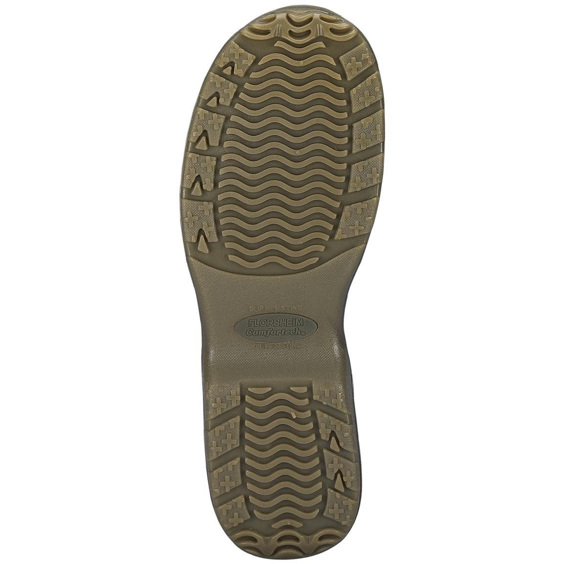 Brown - Polyurethane outsoles provide the best slip protection available