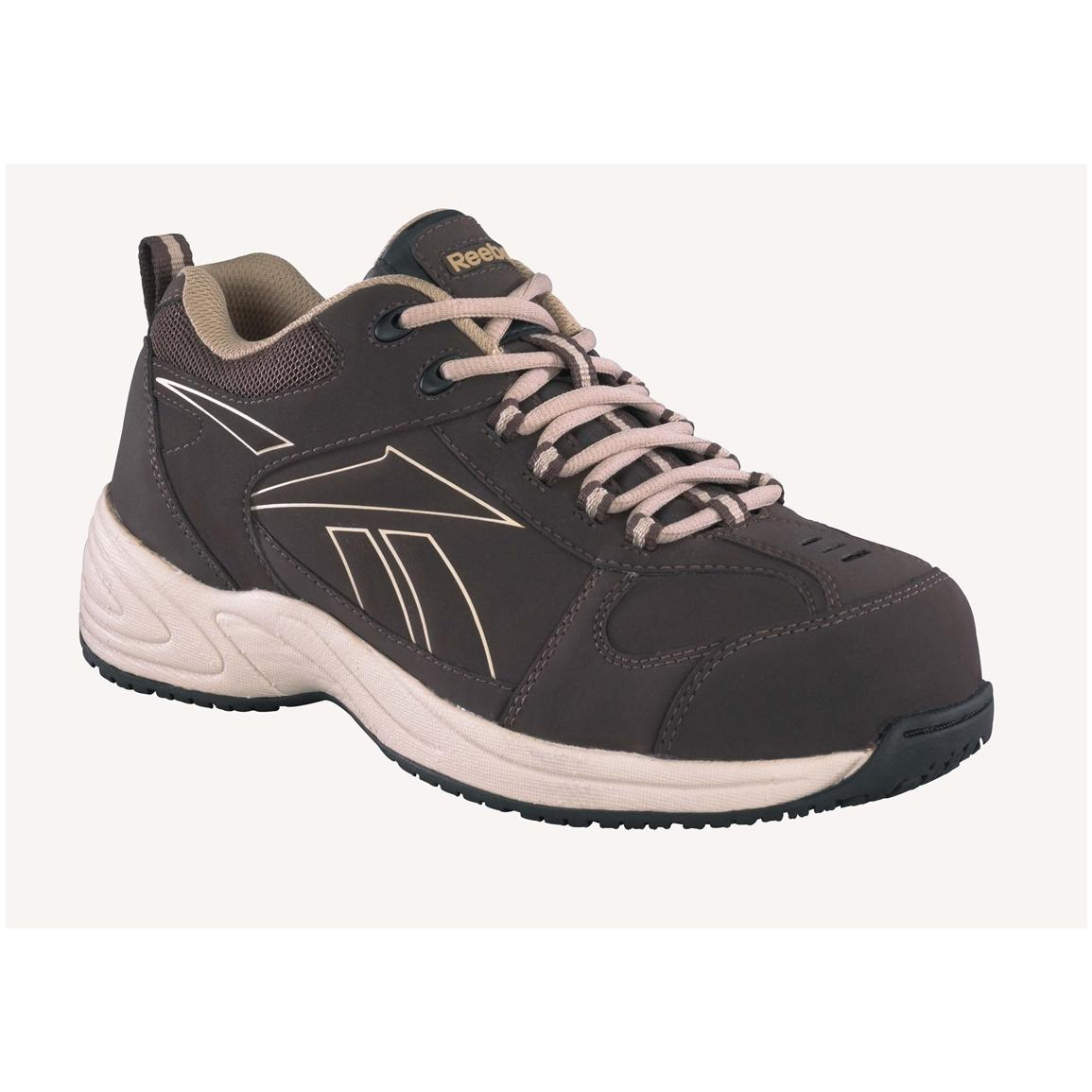 Men's Reebok® Composite Toe Street Sport Shoes, Brown / Taupe