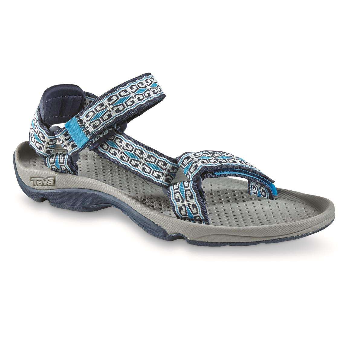 Teva Women's Hurricane 3 Sandals, Mini Denim Blue