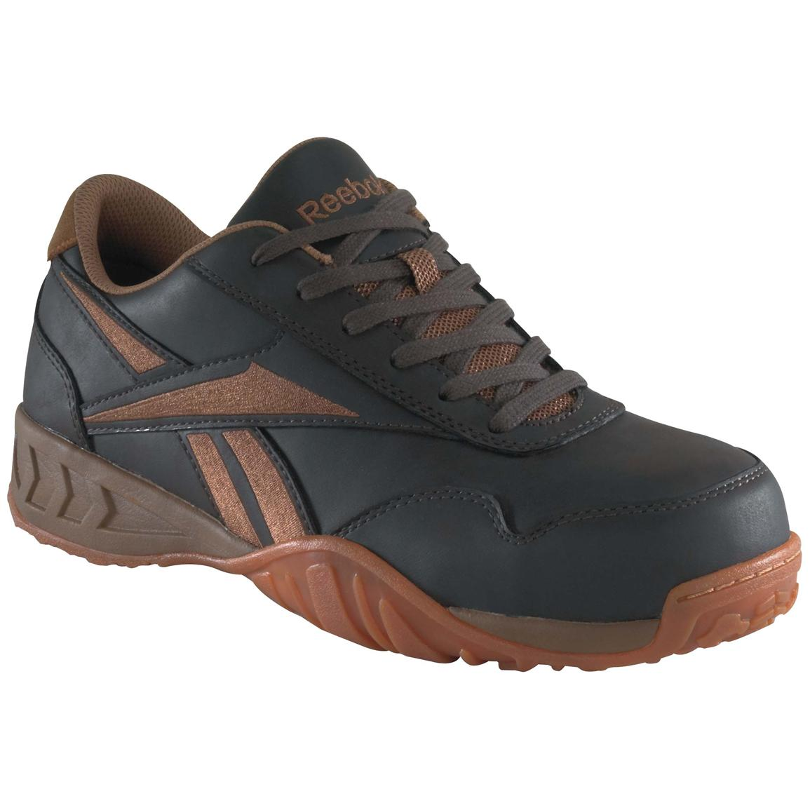 Women's Reebok® Low Profile Composite Toe Oxford Shoes, Brown