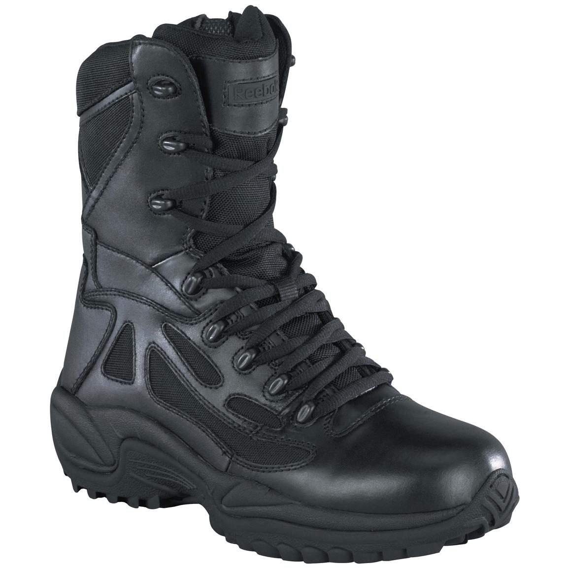 Men's Reebok® 8 inch Side Zip Stealth Tactical Boots, Black