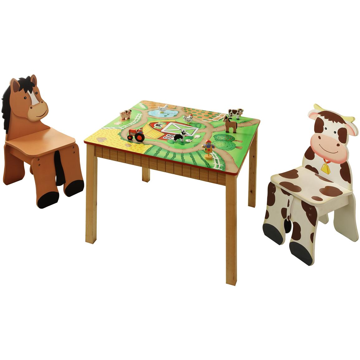 Kids Wooden Table And Chair Set From The Teamson Happy