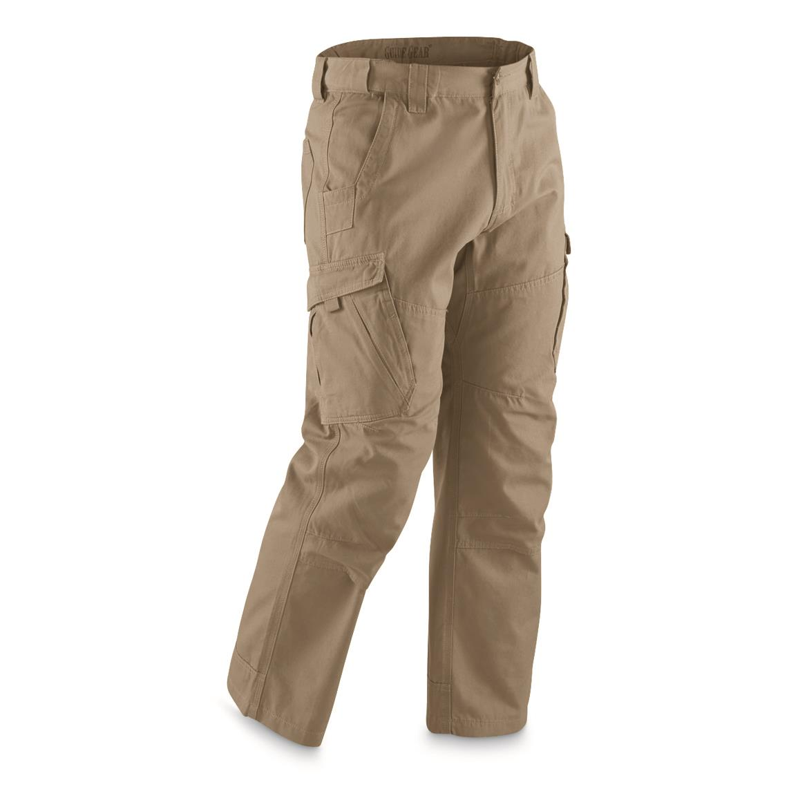 Guide Gear Men's Canvas Work Pants, Khaki