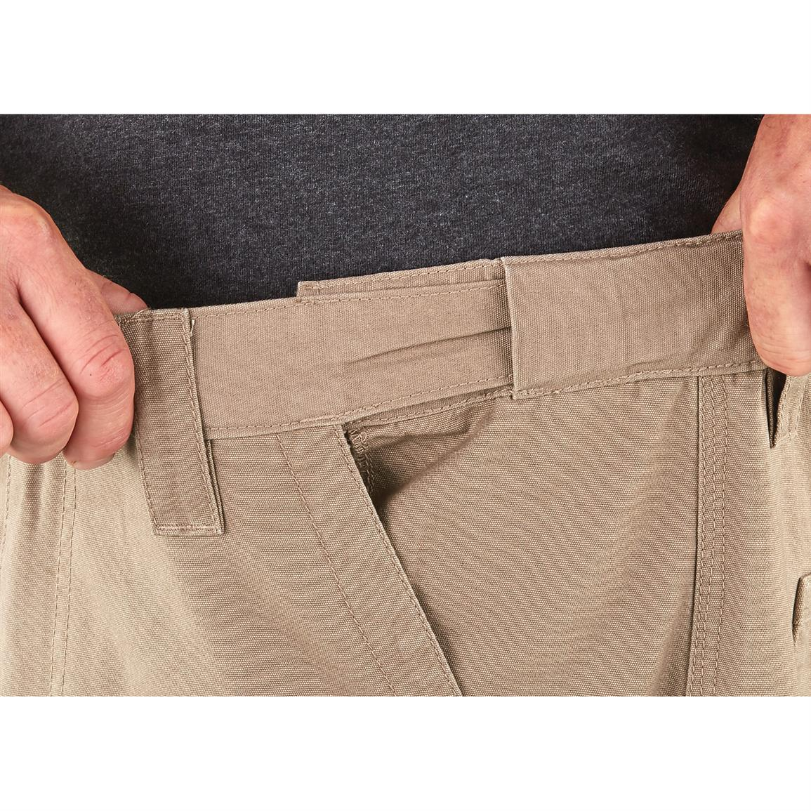 Hidden, self-adjusting waistband for the perfect fit,