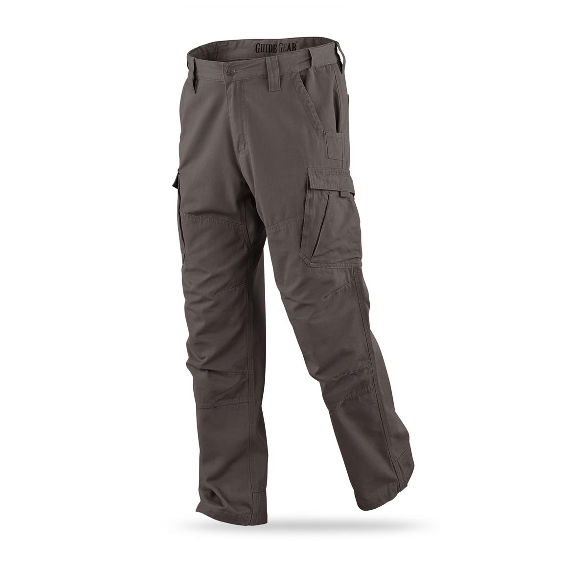 Guide Gear Men's Canvas Work Pants, Dark Coffee