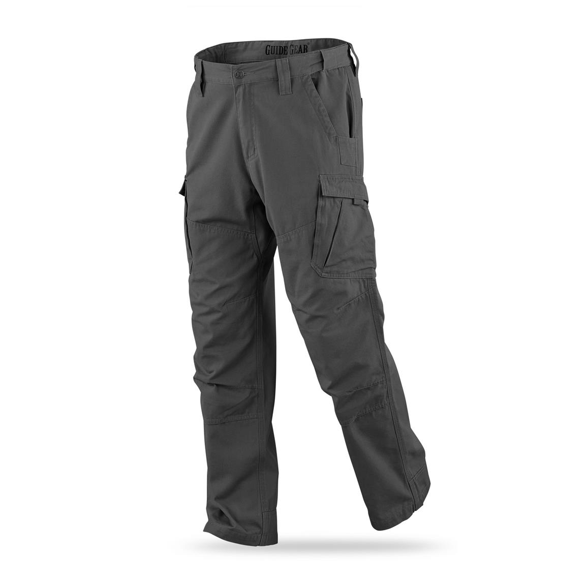 Guide Gear Men's Canvas Work Pants, Graphite Gray