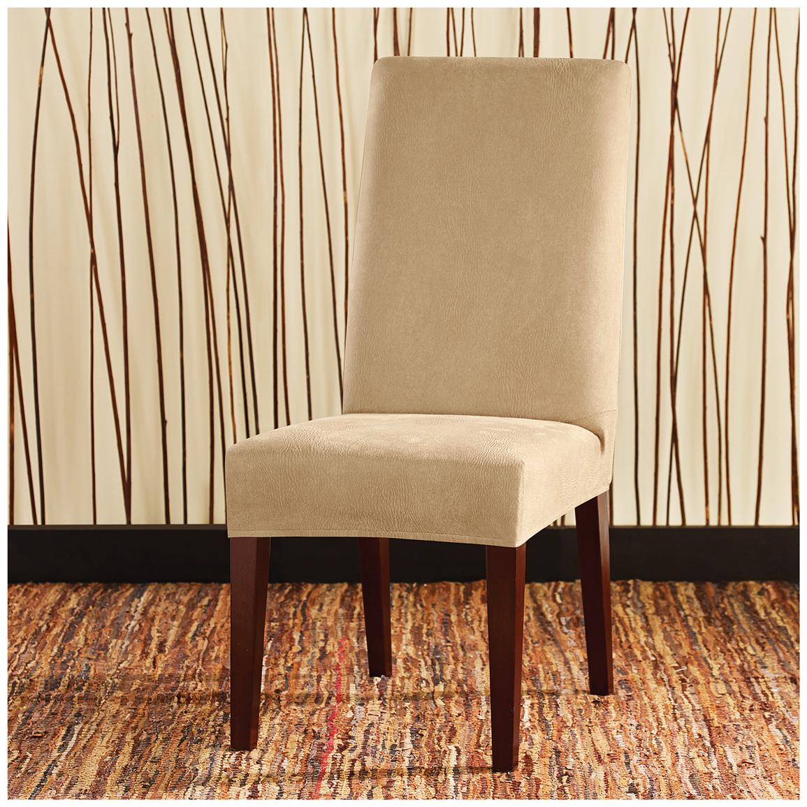 Sure Fit® Stretch Leather Shorty Dining Room Chair Slipcover, Camel