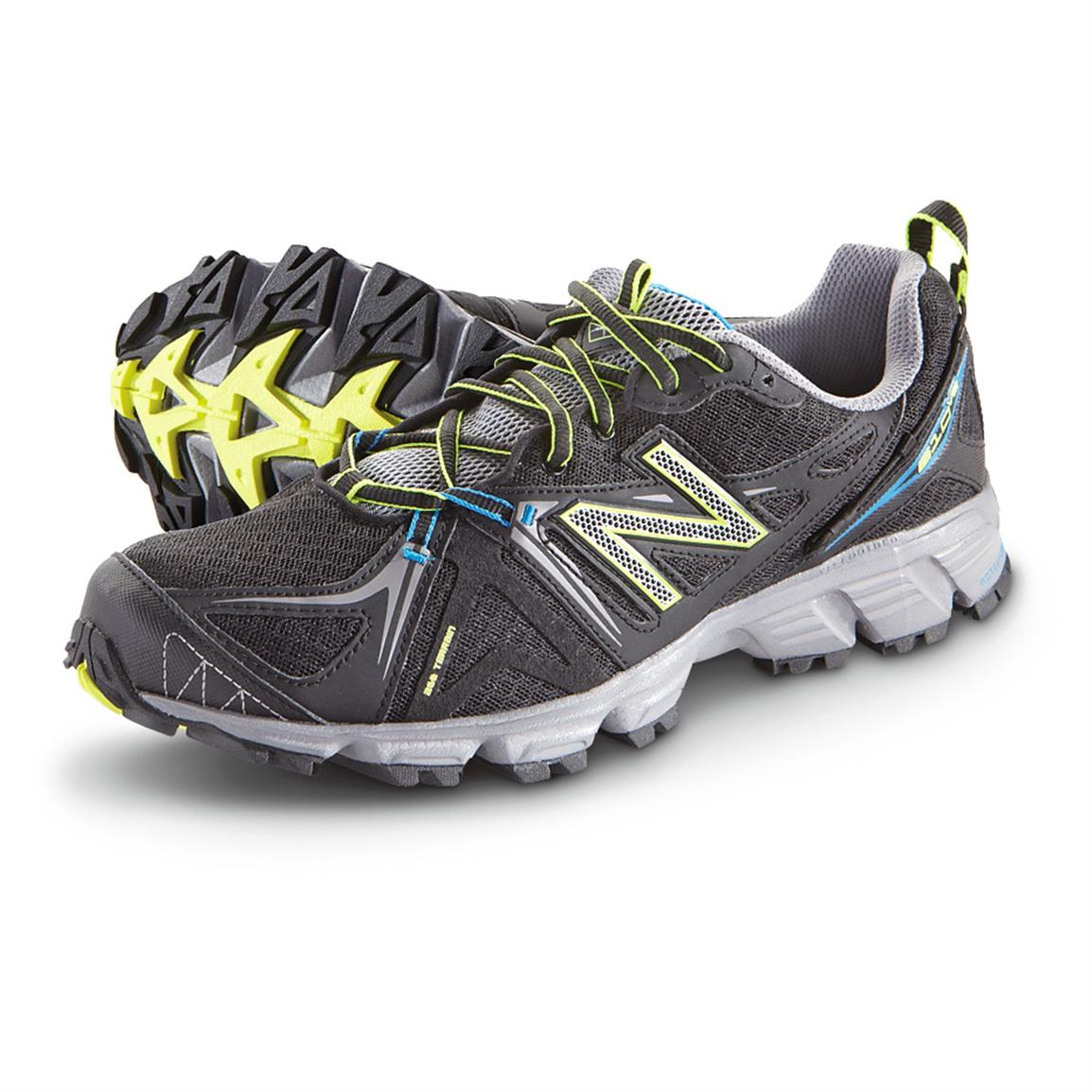 Men's New Balance® 610v2 Trail Running Shoes, Black / Silver