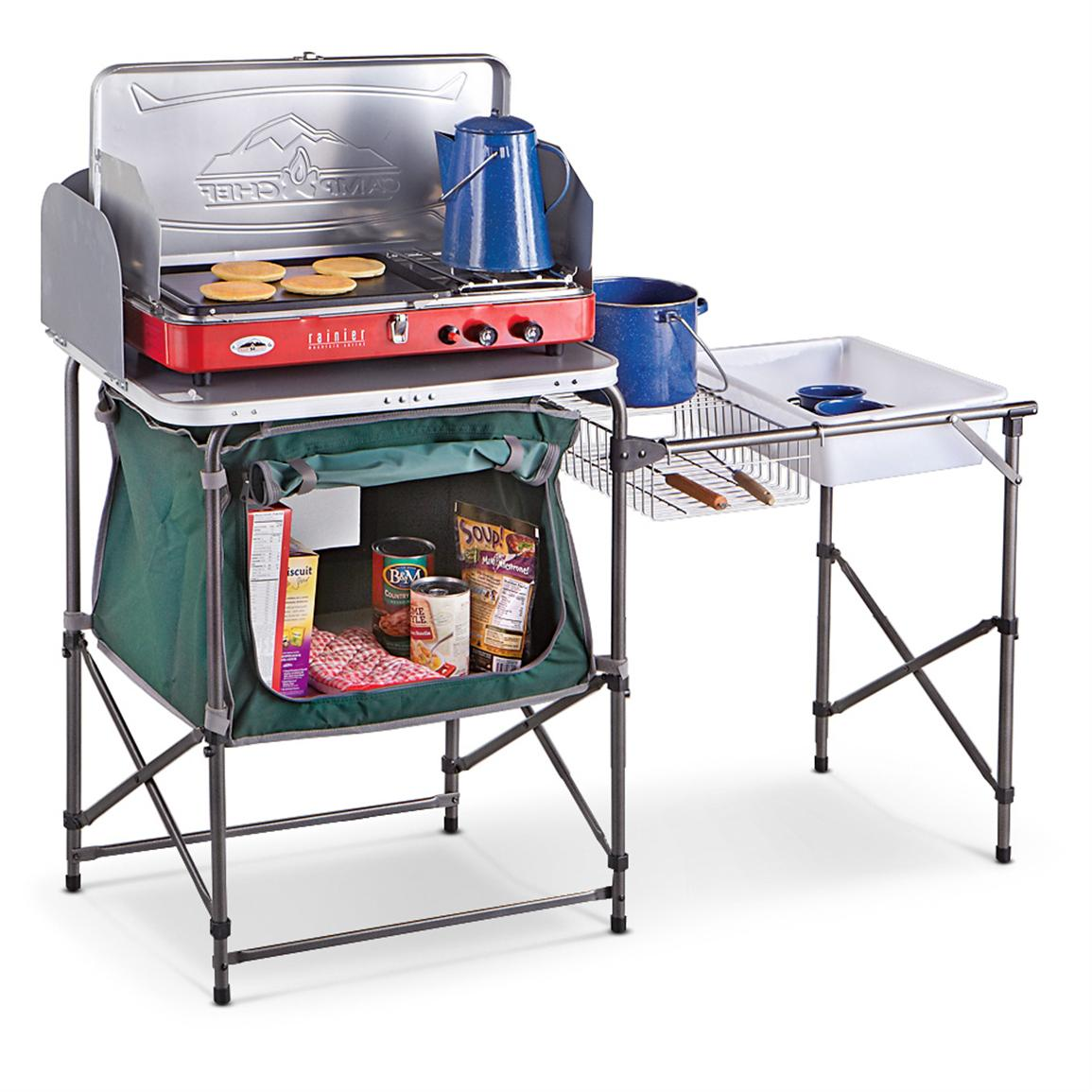 guide gear® deluxe camp kitchen - 581526, tables at sportsman's guide