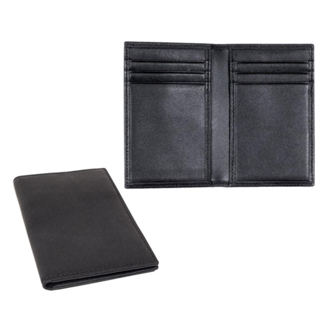 Royce Leather® Hanover RFID Blocking Card Case, Black