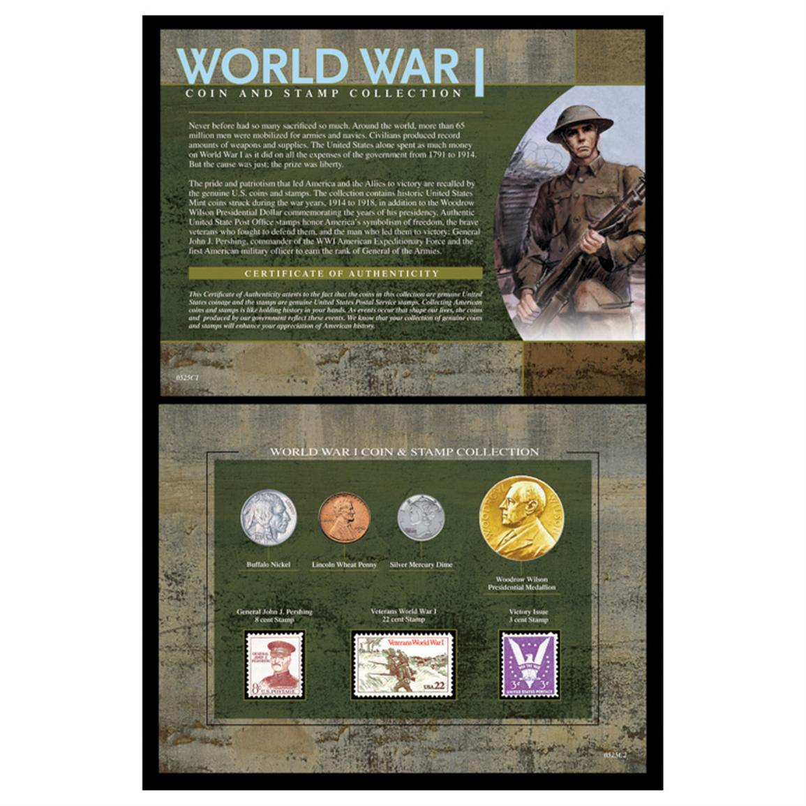American Coin Treasures™ World War I Coin & Stamp Collection