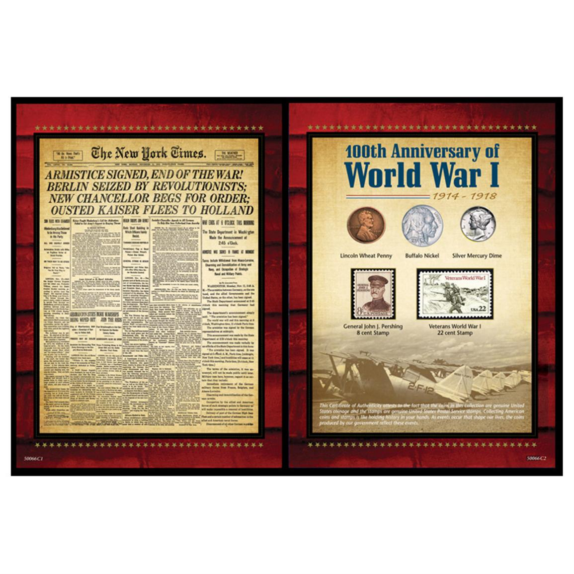 American Coin Treasures™ New York Times World War I Coin and Stamp Portfolio