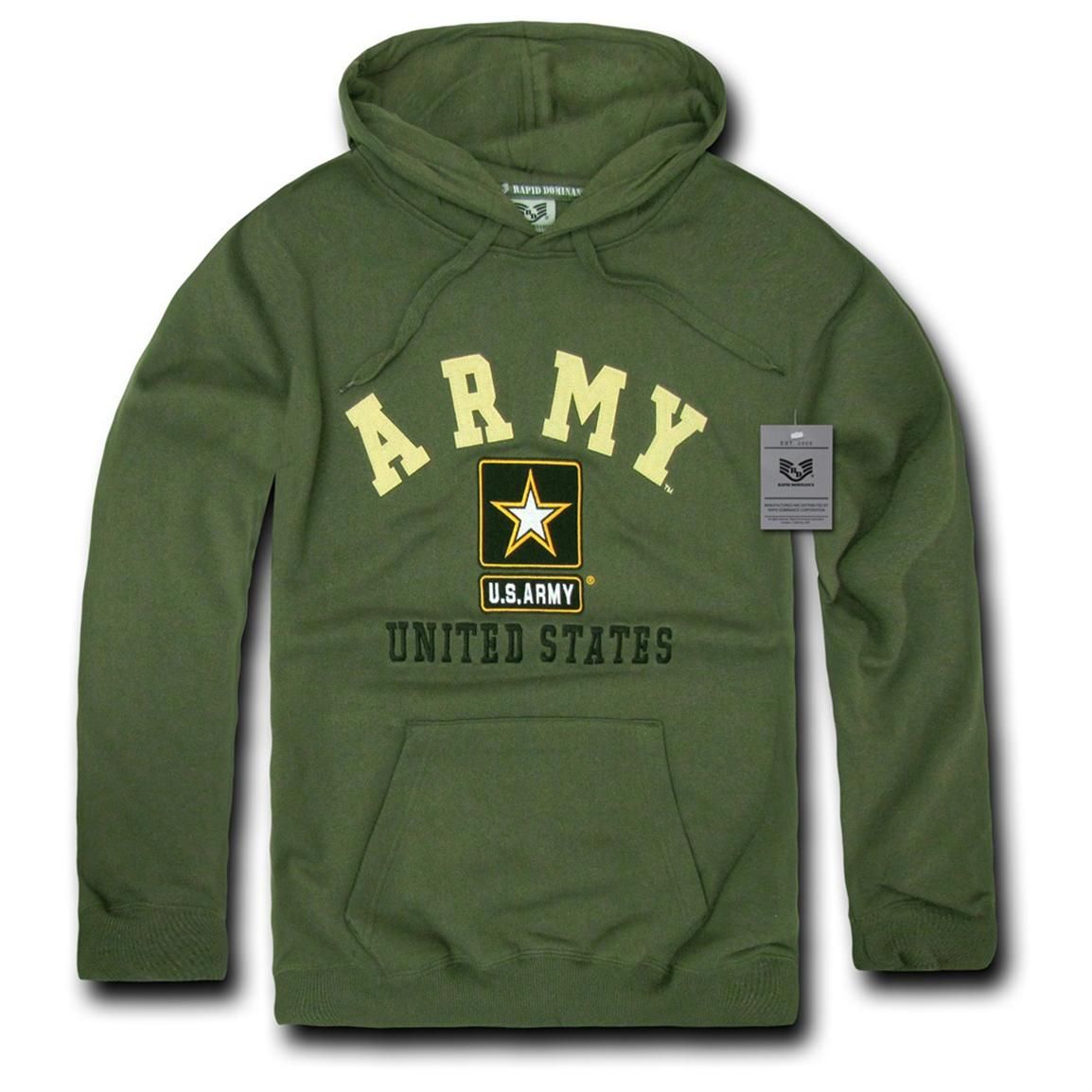 Rapid Dominance Military Fleece Pullover Hoodie, Army Olive