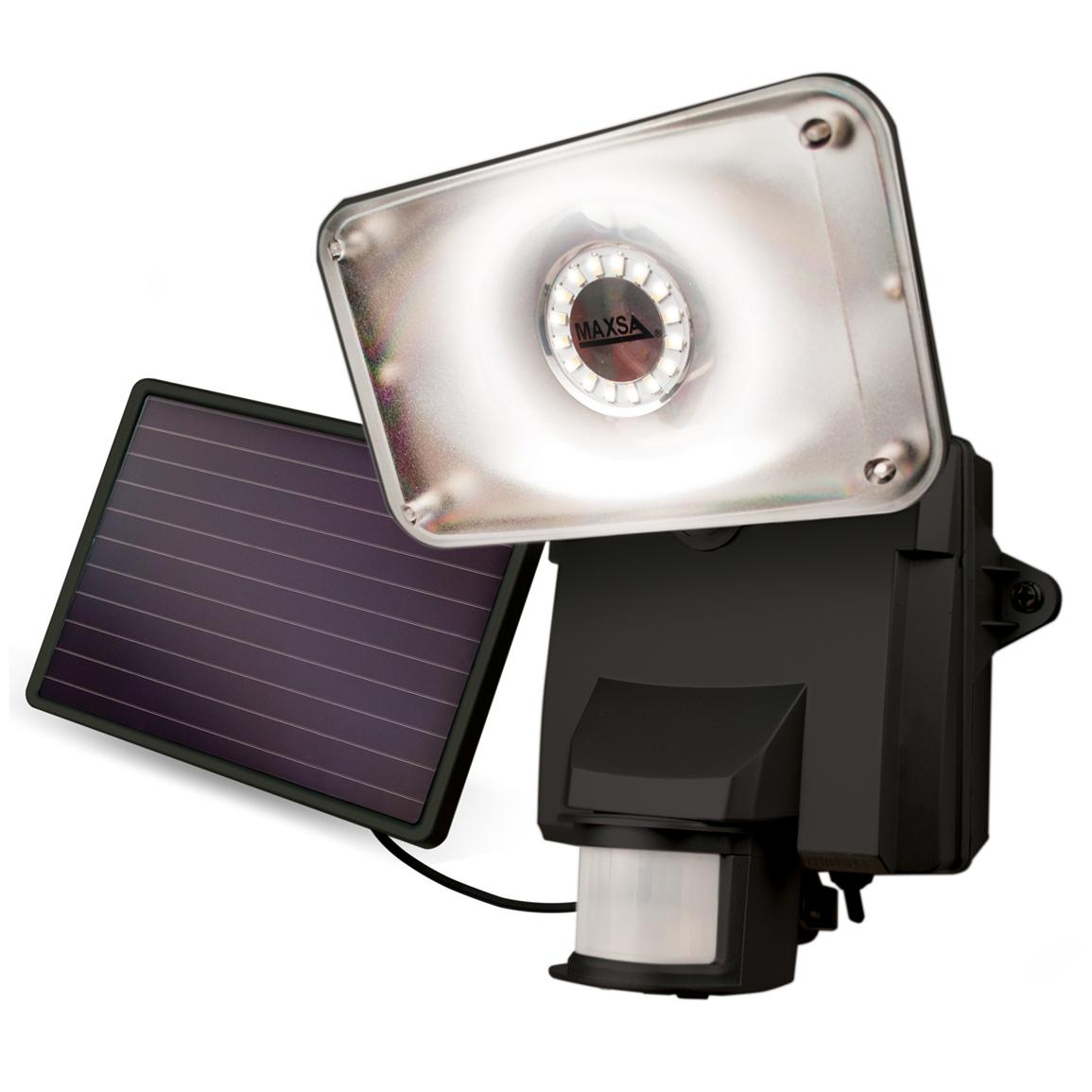 Maxsa® Motion-activated Solar LED Security Floodlight