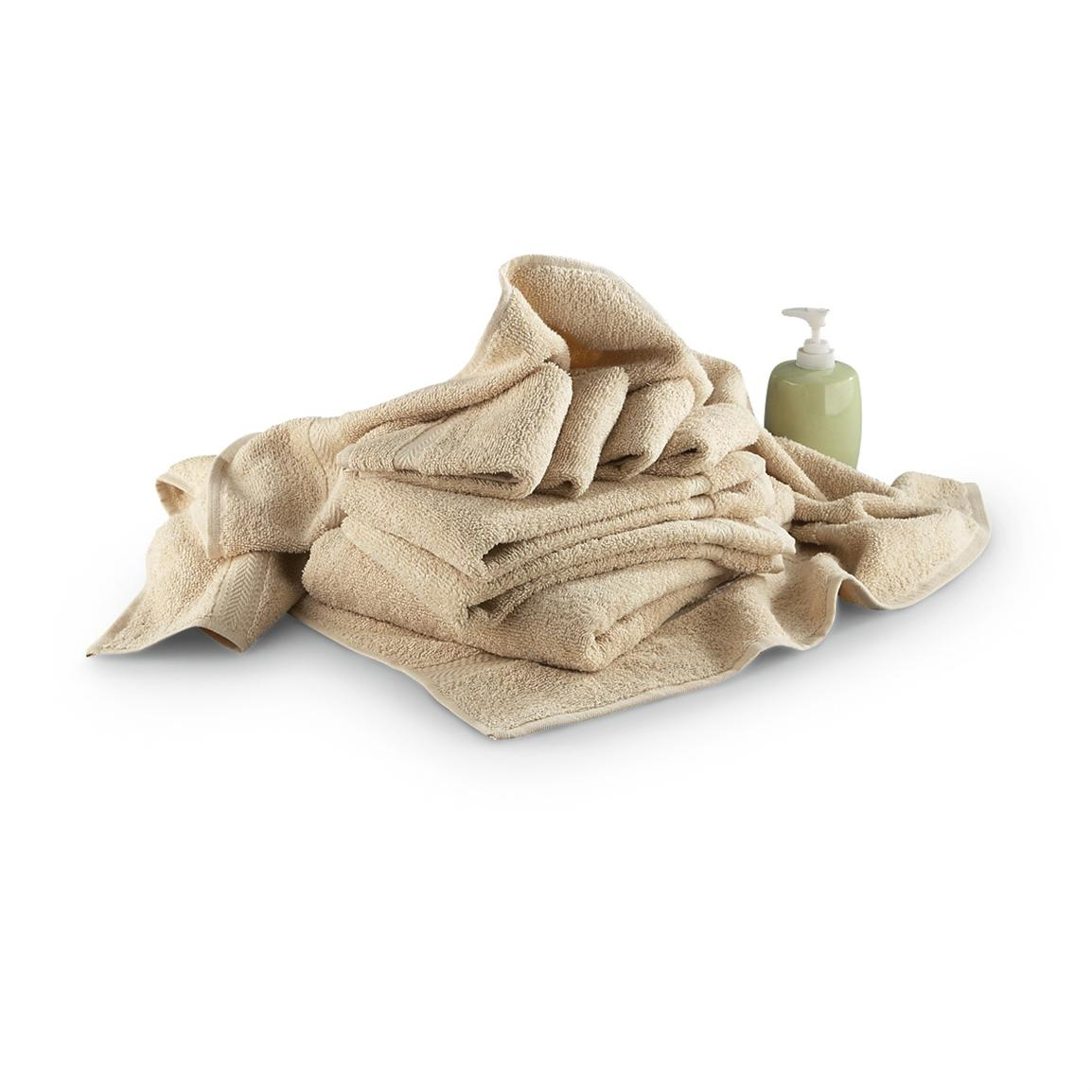 8-Pc. Bath Towel Set, Sand