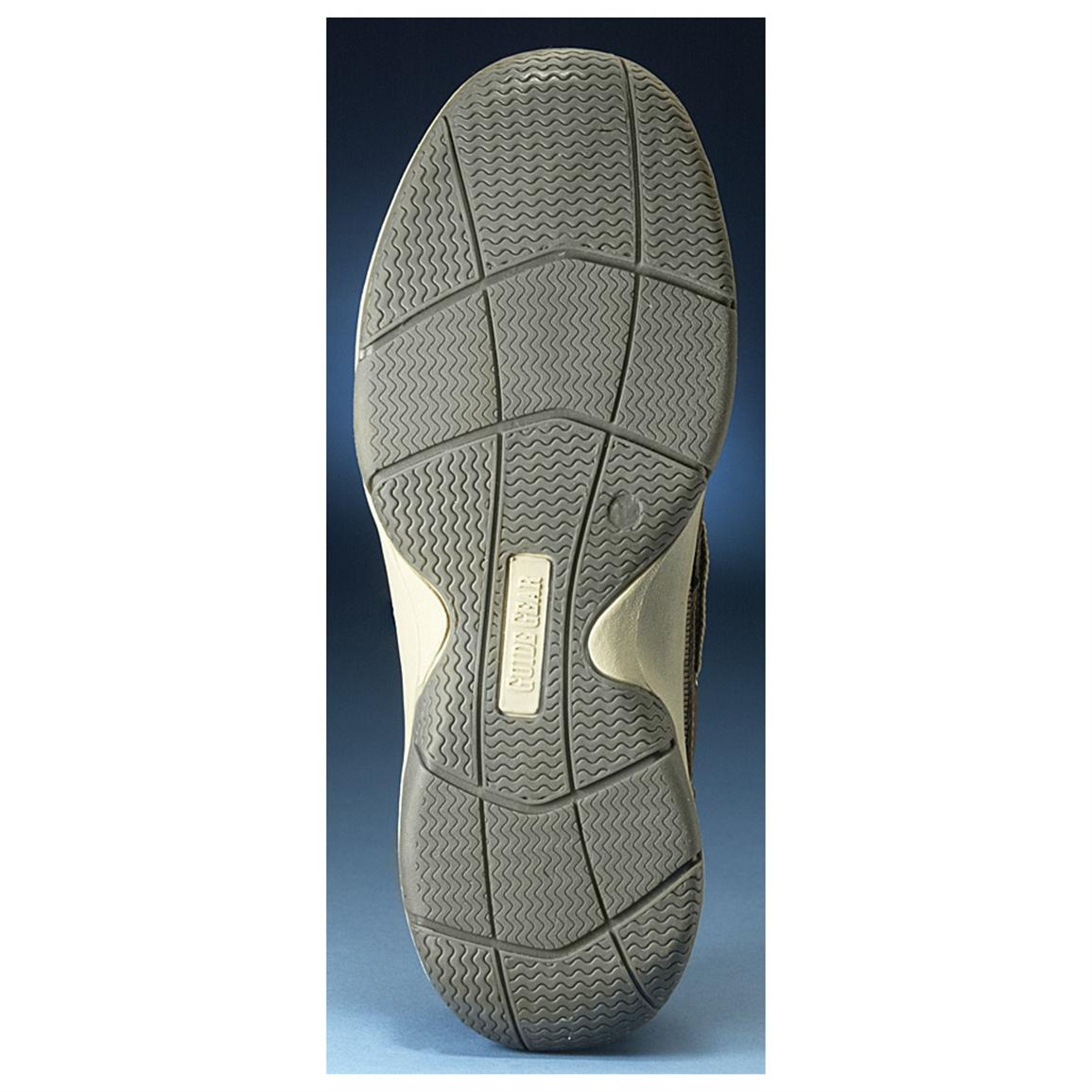 Rubber outsole for high-traction grip on wet surfaces