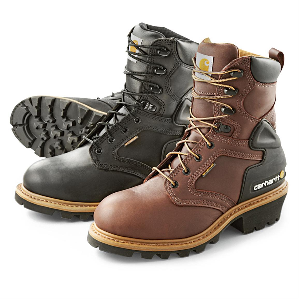 Men's Carhartt® Soft Toe Waterproof Logger Work Boots