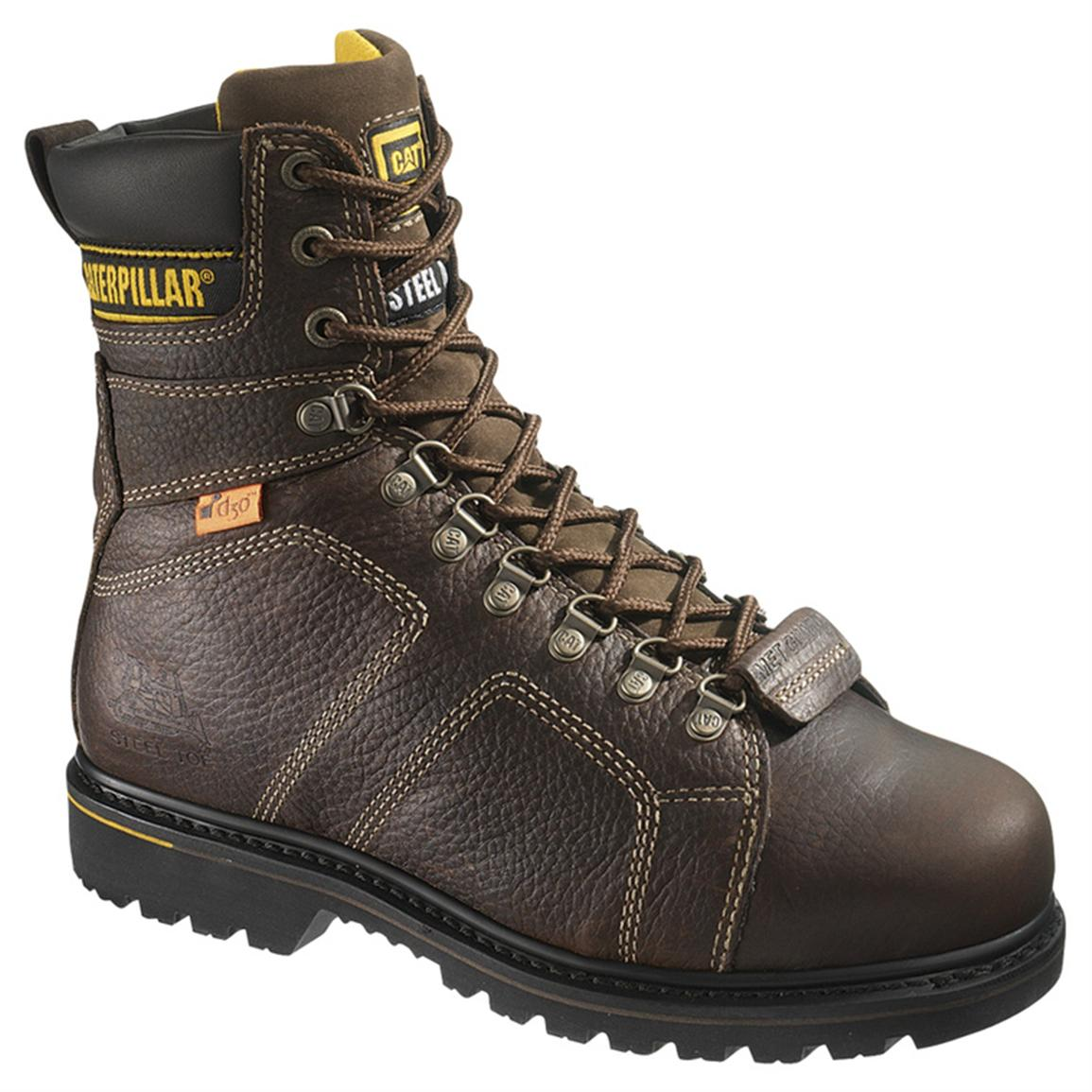 Men's CAT® 8 inch Silverton Guard Steel Toe Boots