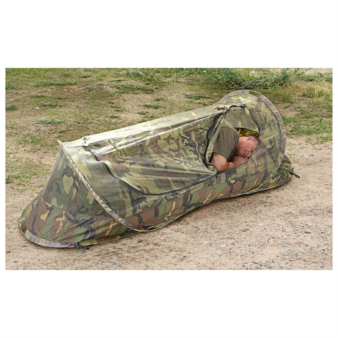 New U.S. Military Surplus Pop-up Bug Tent  sc 1 st  Sportsmanu0027s Guide : military tent surplus - memphite.com