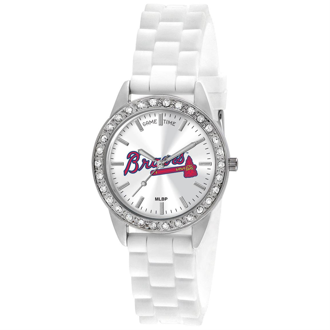 Women's Game Time® MLB® Frost Series Watch, Braves