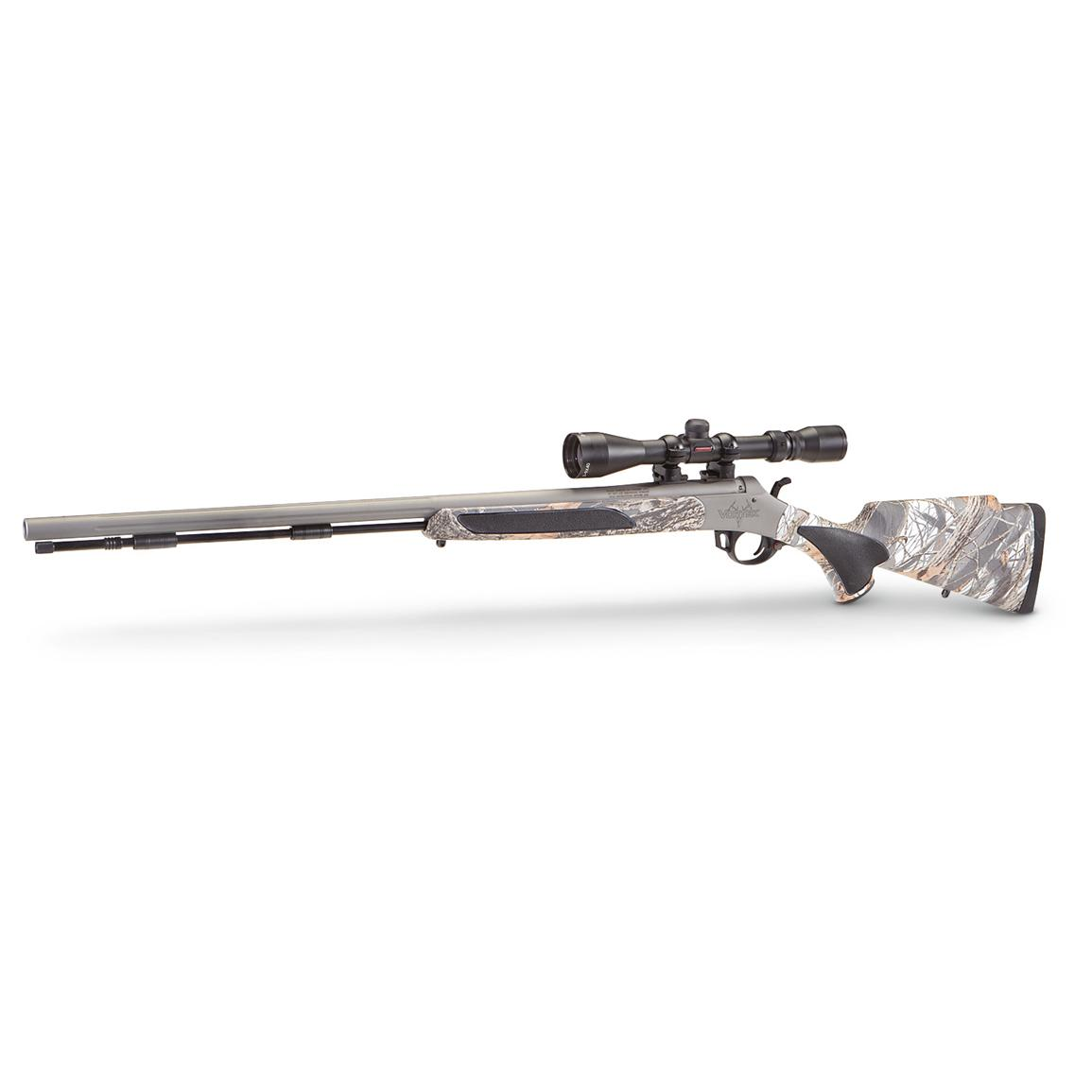Traditions™ Vortek™ Ultralight .50 cal. Black Powder Rifle with 3-9x40 Scope, Snow Camo
