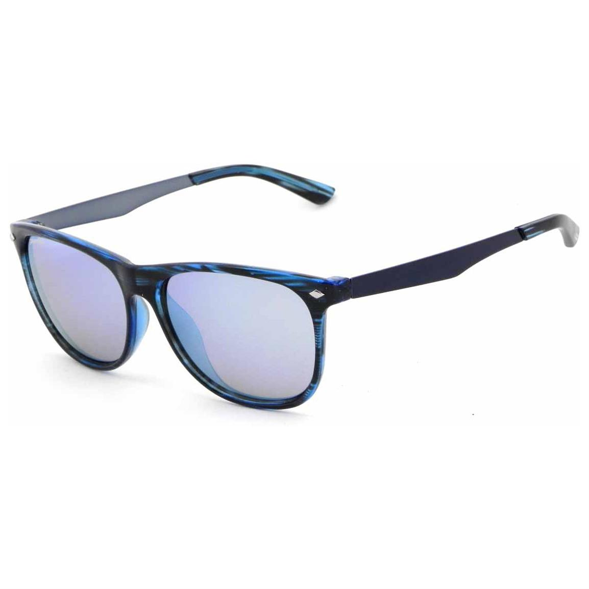 Pepper's® Broadway Mirror Lens Polarized Sunglasses, Ocesn Tortoise / Blue