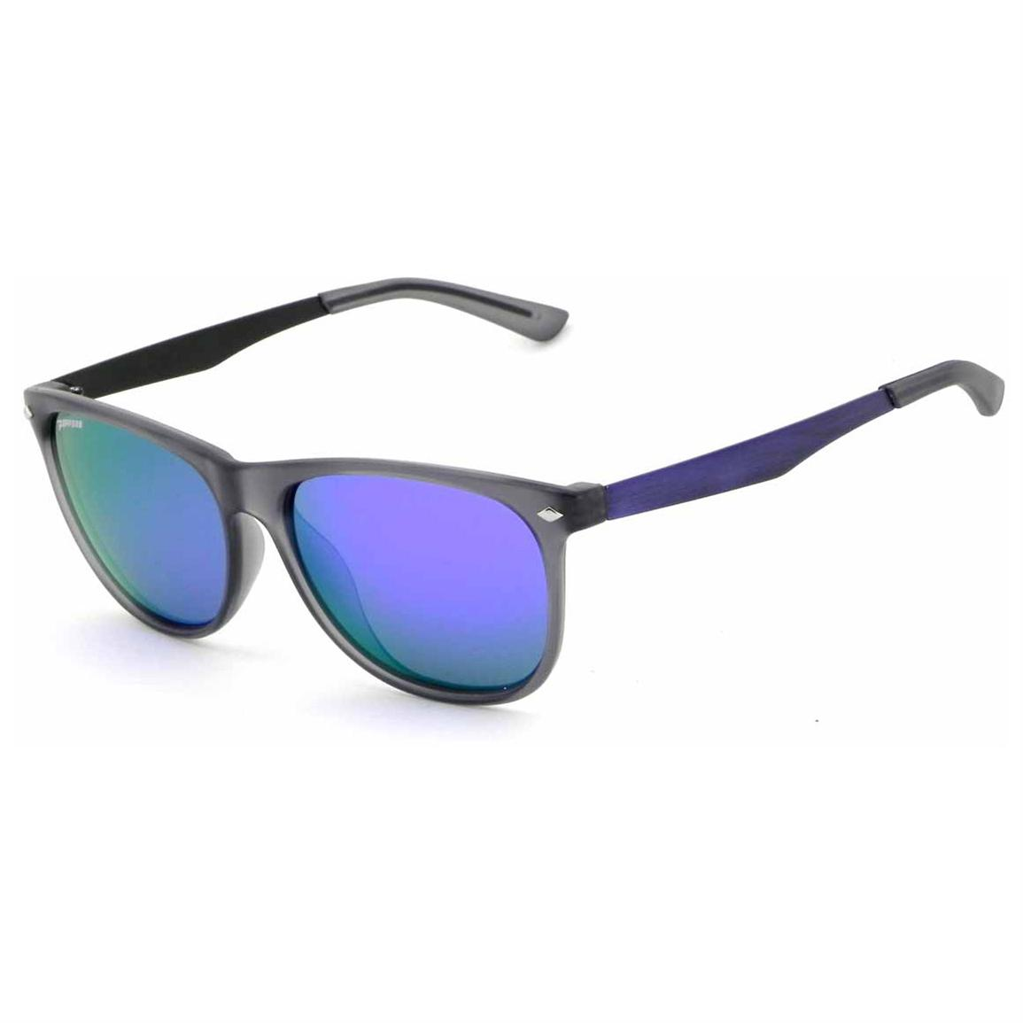 Pepper's® Broadway Mirror Lens Polarized Sunglasses, Grey / Purple