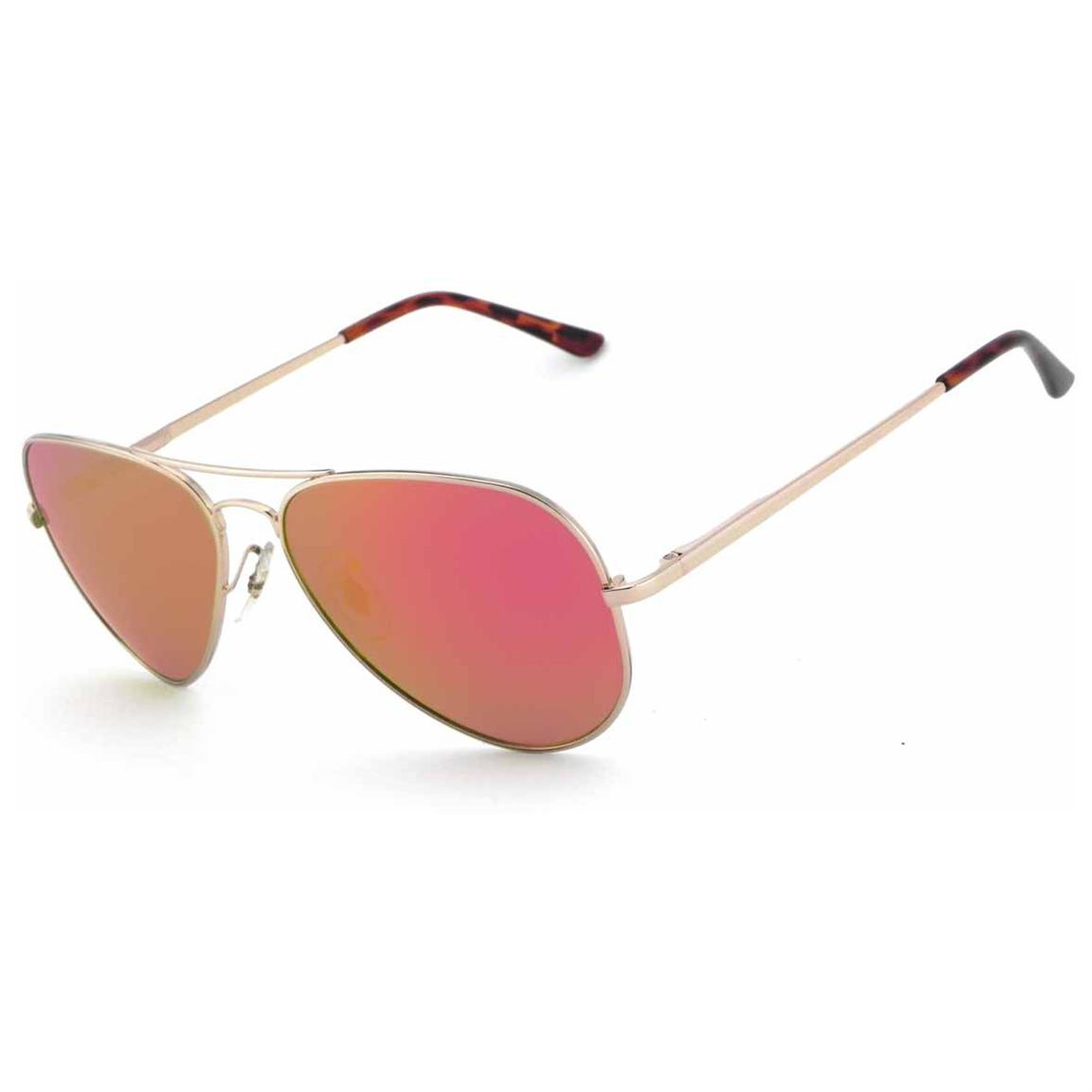 Pepper's® Maverick Polarized Sunglasses, Gold / Red