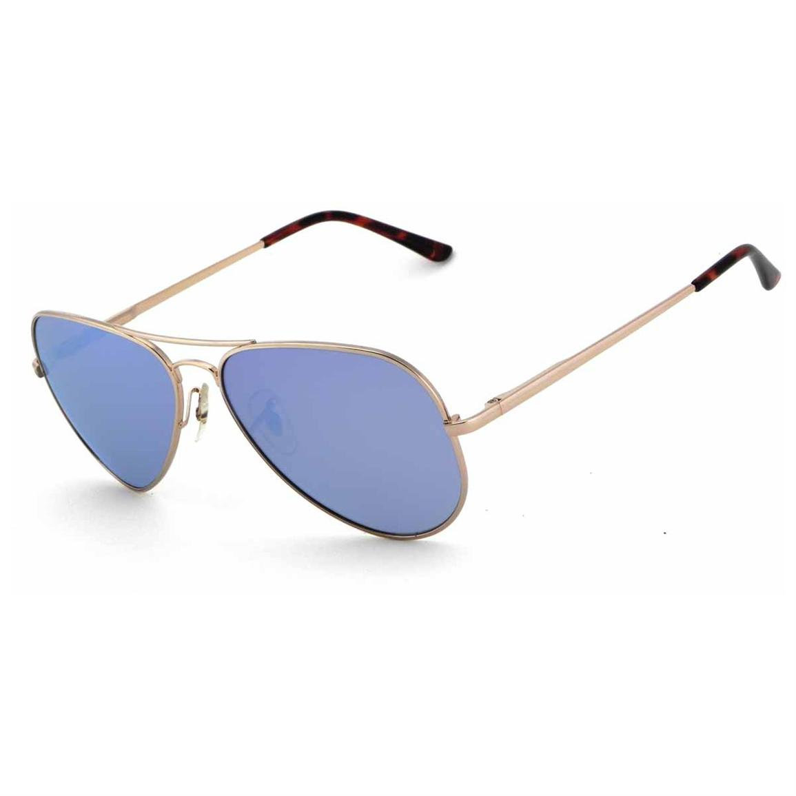 Pepper's® Maverick Polarized Sunglasses, Gold / Blue