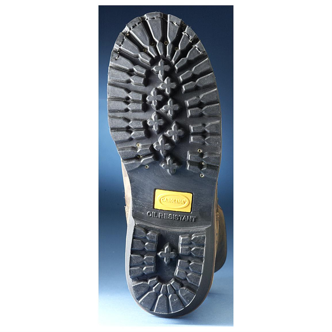 One-piece rubber lug outsole.
