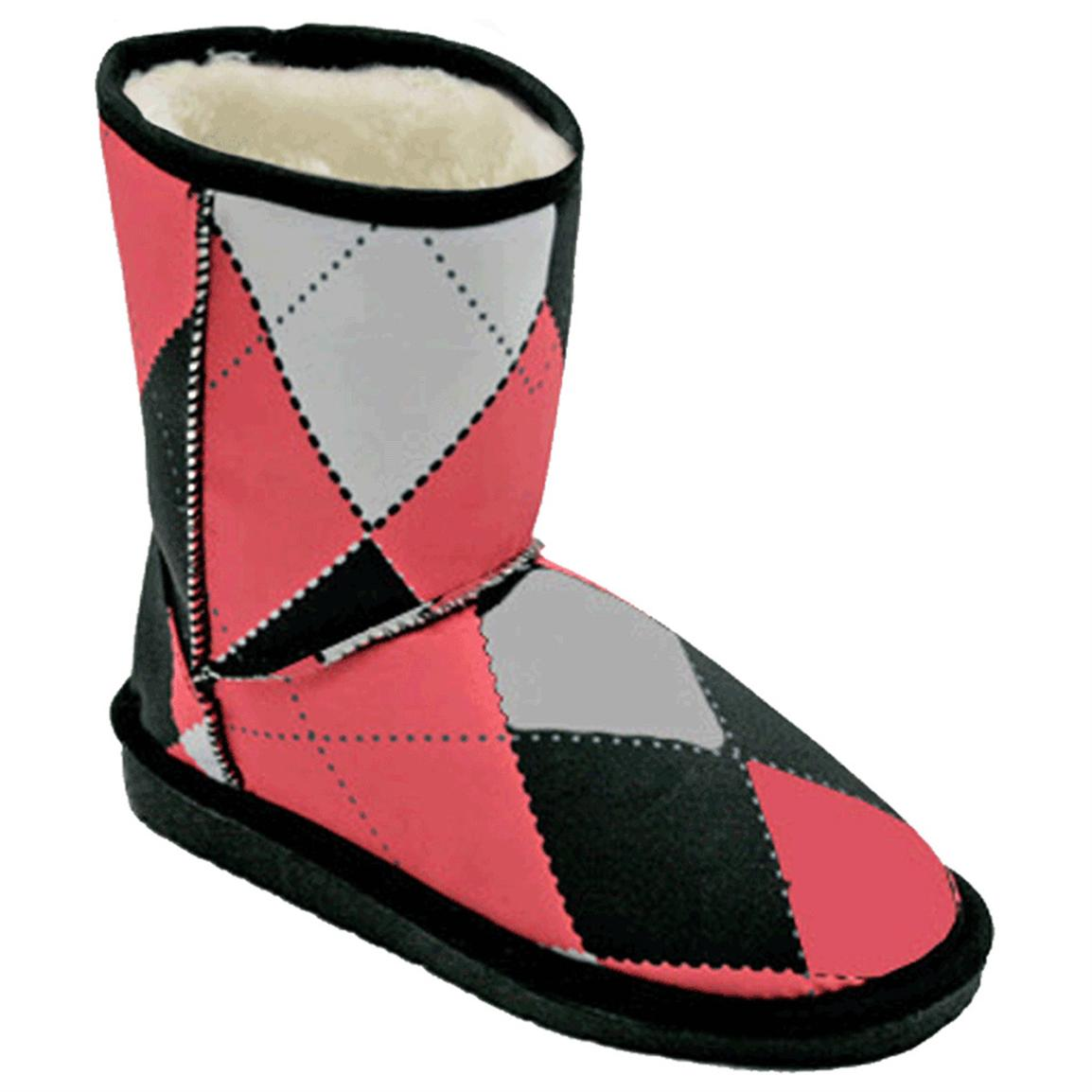 "Women's Dawgs® 9"" LoudMouth Australian-style Boots, Pink / Black Tile"