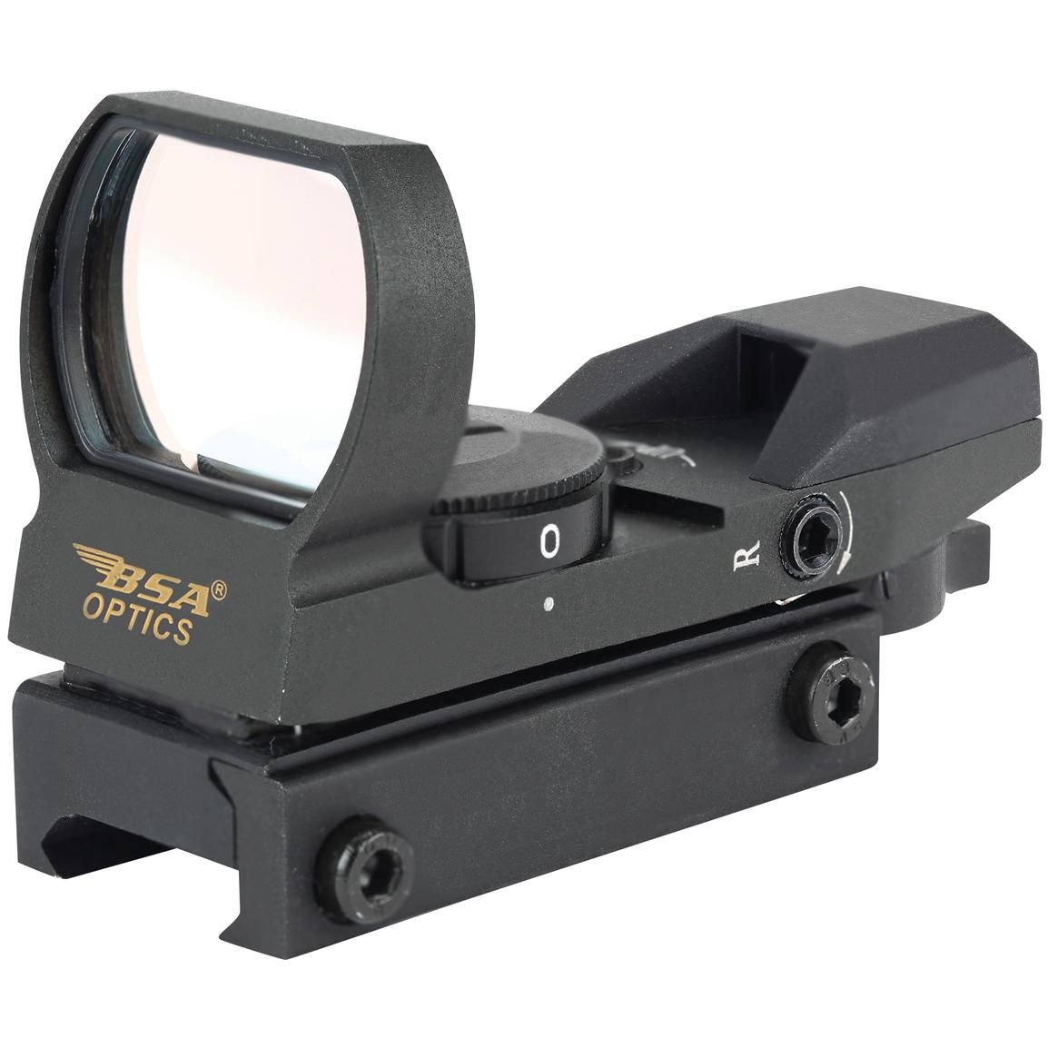 BSA® Panoramic Sight with Red, Green and Blue dot reticles